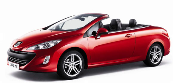 Rent a PEUGEOT 308 CONVERTIBLE  car in Crete